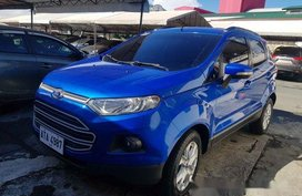 Selling Blue Ford Ecosport 2015 at 22500 km