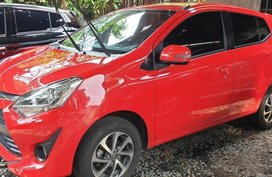 Selling Red Toyota Wigo 2018 Manual Gasoline in Quezon City