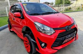 Sell Red 2017 Toyota Wigo at Manual Gasoline at 14000 km in Cebu City