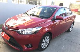 Selling Red Toyota Vios 2014 Manual Gasoline in Laguna