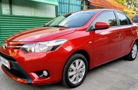Red Toyota Vios 2018 Automatic for sale in Pampanga