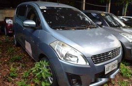 Blue Suzuki Ertiga 2015 Automatic Gasoline for sale