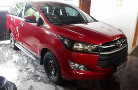 Sell Red 2017 Toyota Innova Manual Gasoline at 28859 km in Quezon City