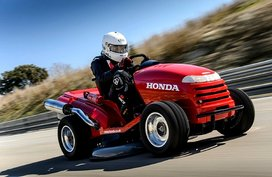 Behold! The fastest lawn mower with a Guinness World Record is Honda Mean Mower V2