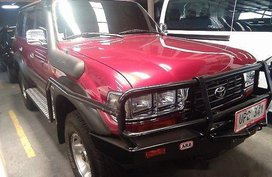 Sell Red 1996 Toyota Land Cruiser Manual Gasoline