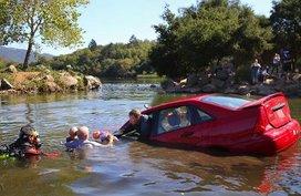 Survival tips to escape a sinking car