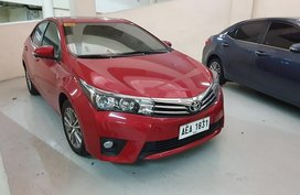 Red 2014 Toyota Altis at 22000 km for sale in Quezon City