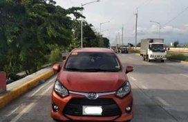 Selling Orange 2017 Toyota Wigo Manual