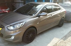 Hyundai Accent 2012 Manual Gasoline for sale in Quezon City