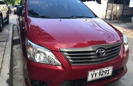 Red Toyota Innova 2016 Manual Diesel for sale in Quezon City