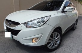 White Hyundai Tucson 2013 Automatic Diesel for sale in Quezon City