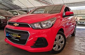 Red 2017 Chevrolet Spark Hatchback for sale in Makati