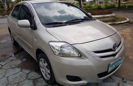 Beige Toyota Vios 2008 Manual Gasoline for sale in Talisay
