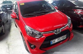 Red Toyota Wigo 2019 Automatic Gasoline for sale in Quezon City