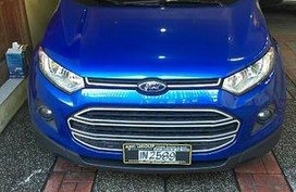 Selling Blue Ford Ecosport 2017 at 16500 km