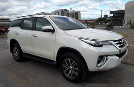 White Toyota Fortuner 2016 for sale Automatic