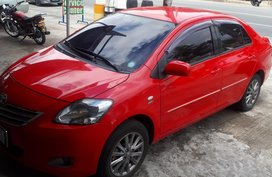 2nd Hand Red Toyota Vios 2013 Automatic at 61000 km For Sale