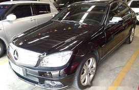 Black Mercedes-Benz C200 2007 Automatic Gasoline for sale