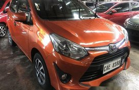 Orange Toyota Wigo 2017 at 8800 km for sale