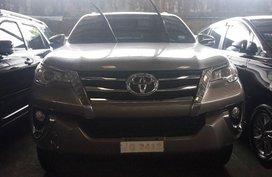 Beige Toyota Fortuner 2016 for sale in Manila