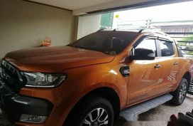 Orange Ford Ranger 2016 Automatic Diesel for sale in Manila