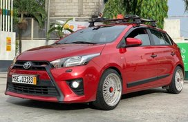 Red Toyota Yaris 2016 for sale in Quezon City