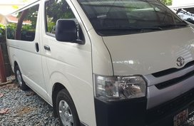 Selling White Toyota Hiace 2019 Manual Diesel at 2790 km in Quezon City