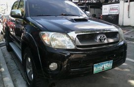 Black Toyota Hilux 2010 for sale Manual