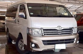 Selling White Toyota Hiace 2013 Automatic Diesel in Makati