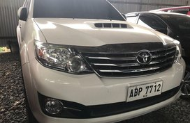 Selling White Toyota Fortuner 2016 Manual Diesel at 12000 km in Quezon City