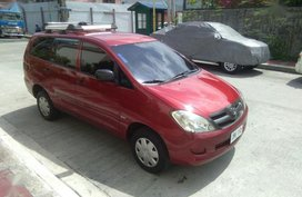 Selling Red Toyota Innova 2008 Manual Gasoline in Quezon City