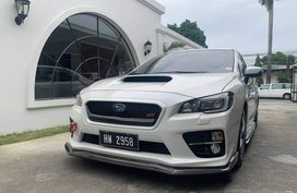 Pearl White 2015 Subaru Wrx Sti at 14000 km for sale