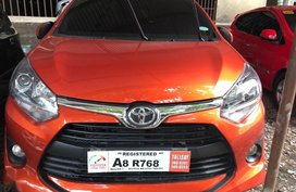 Orange Toyota Wigo 2019 Manual Gasoline for sale in Quezon City