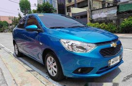 Selling Blue Chevrolet Sail 2017 at 4000 km in Quezon City