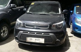 Black Kia Soul 2017 Manual Diesel for sale in Makati
