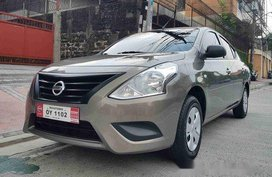 Brown Nissan Almera 2017 for sale in Quezon City
