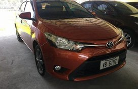 Orange Toyota Vios 2016 Manual Gasoline for sale