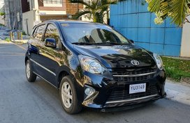 Black 2016 Toyota Wigo Automatic at 25000 km for sale