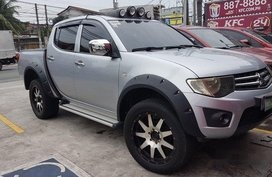 Silver Mitsubishi Strada 2010 Manual Diesel for sale