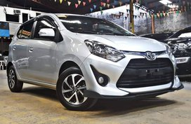 Silver 2018 Toyota Wigo Gasoline Automatic for sale