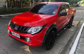 Sell Red 2016 Mitsubishi Strada at 44000 km in Davao City