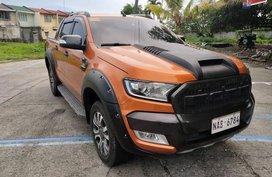 Orange 2017 Ford Ranger Manual Diesel at 12000 km for sale
