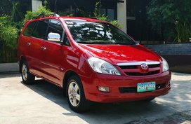 Red 2006 Toyota Innova Automatic Gasoline for sale