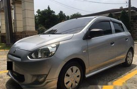 Selling Silver Mitsubishi Mirage 2013 Manual Gasoline