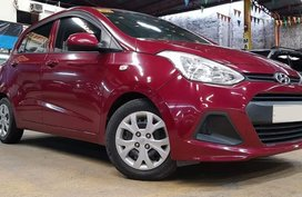 Red 2015 Hyundai Grand i10 for sale in Quezon City