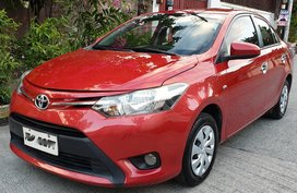 Red 2016 Toyota Vios Manual at 41000 km for sale