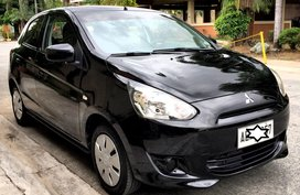 Black 2014 Mitsubishi Mirage Hatchback for sale in Pasig