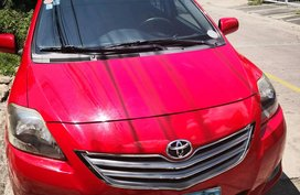 Selling Red 2013 Toyota Vios at 44700 km