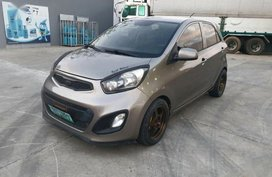 Grey Kia Picanto 2013 Hatchback Manual Gasoline for sale in Manila