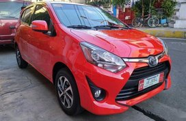 Red Toyota Wigo 2018 Hatchback Automatic Gasoline for sale in Manila